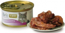 Brit Care Cat Tuna & Salmon 80гр*48шт